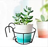 4 Pack Hanging Railing Planters Flower Pot Holders