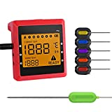 Bluetooth Meat Thermometer APP Monitor Kitchen Cooking BBQ Temp...