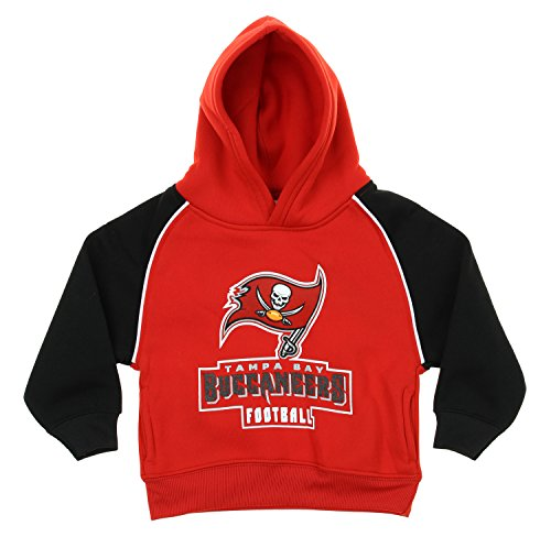 NFL Infant/Toddlers FLC Team Hooded Pullover Hoodie, Various Teams (Tampa Bay Buccaneers, 3T)