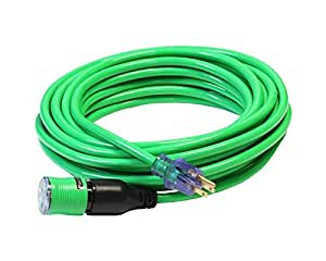 50-Foot 12/3 Molded Pro Lock Extension Cord - Your Name Printed on Cord