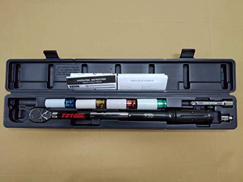 Legible scale 1/2'' 30-150FTLB Torque wrench set, [Protector impact sockets] by TZTOOL (Image #1)