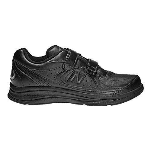 New Balance Men's MW577 Hook and Loop Walking Shoe, Black, 15 4E US 15 Loops