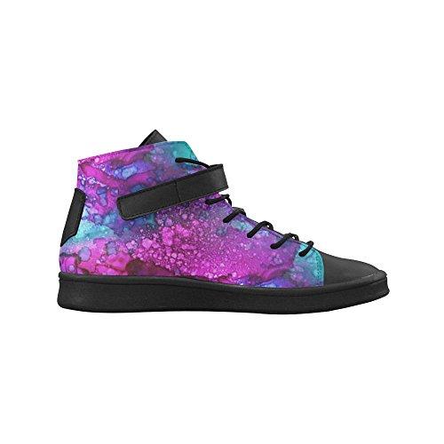 D-story Bout Rond Haut Chaussures Haut Fondant En Baskets Pourpres Womens