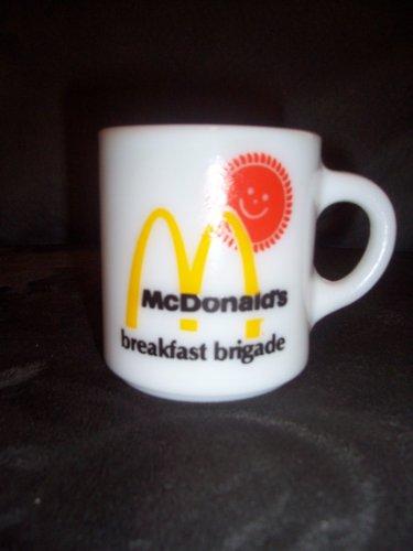 Vintage White Fire King - Fire King Vintage McDonald's Breakfast Brigade Mug C-Handle