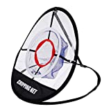 SM SunniMix Portable 20-inch Golf Beginner Chipping Pitching Practice Net, Training Hitting Aids Tool for Indoor Outdoor Driving Range Swing, Collapsible with Bag