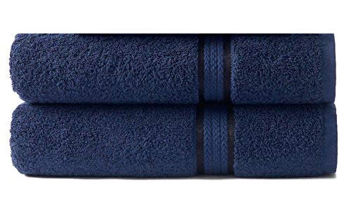Cotton Craft - 2 Pack Ultra Soft Oversized Extra Large Bath Sheet 35x70 Night Sky - Weighs 33 Ounces - 100% Pure Ringspun Cotton - Luxurious Rayon trim - Ideal for everyday use, Easy care machine wash