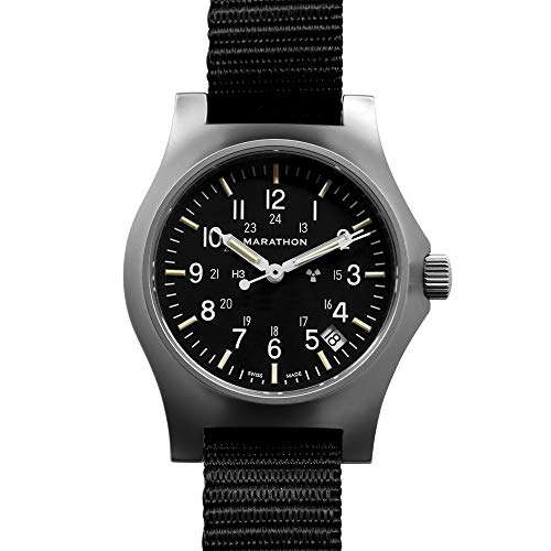 Marathon Watch WW194015SS-NGM Stainless Steel General Purpose Quartz with Date & Tritium, (39mm Case-to-Crown, Stainless Steel, No Government Markings)