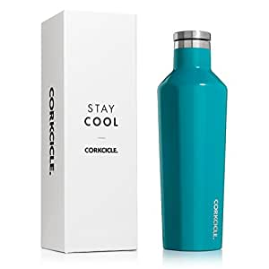 Corkcicle Corkcicle Canteen Classic Collection - Water Bottle & Thermos - Triple Insulated Shatterproof Stainless Steel 16 oz Gloss Biscay Bay