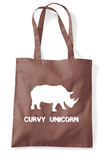 Cute Animal Alternative Tote Bag Shopper Funny Sublimation Curvy Names Rhino Themed Chestnut Unicorn xATYqTa6