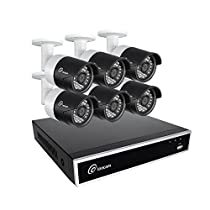 Loocam 8CH 720P HD-TVI Video DVR Security Camera System 6x 2.0 MP(1280X720P) Surveillance Camera Kit 1TB Hard Drive, Motion Detection & Email Alert, Intuitive Android & iOS APP