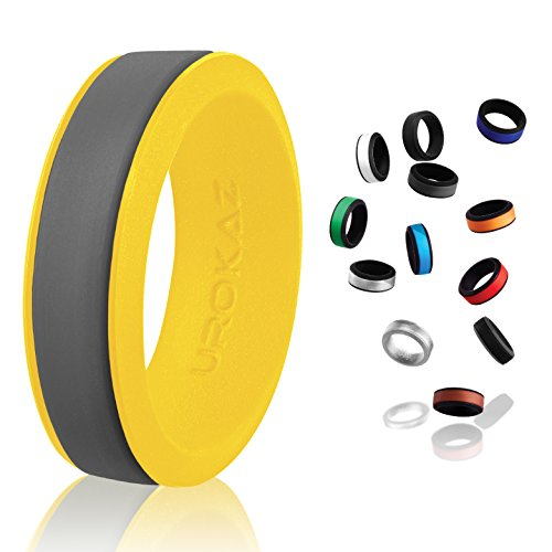 UROKAZ - Silicone Wedding Ring, The Only Ring That Fits Your Lifestyle - Whether You are Single or Married, Ring is Right for You - It is Fashionable, Flexible, and Comfortable