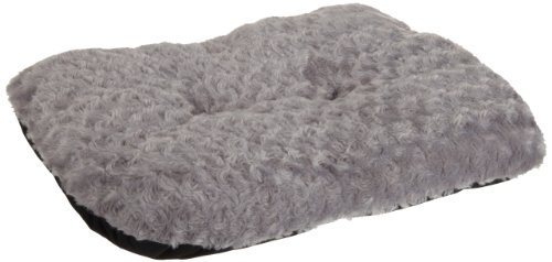 - American Kennel Club Rose Swirl Plush Pet Mat/Bed, Gray