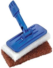 """Tolco 280138 Universal Pad Holder with 2 Cleaning Pads, 9"""" Height, 1.75  Width, Blue/White/Brown"""