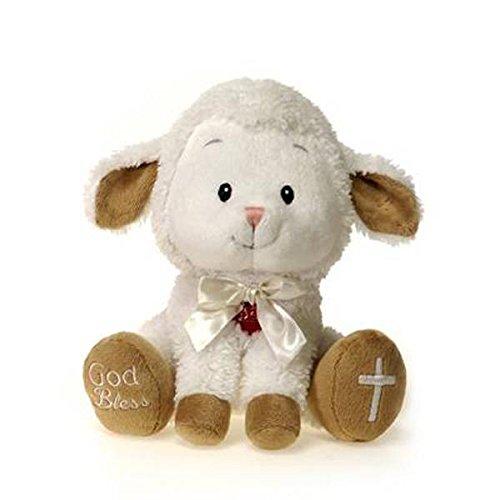 """Fiesta Toys Singing """"Jesus Loves Me"""" Lamb Plush Stuffed Anim"""