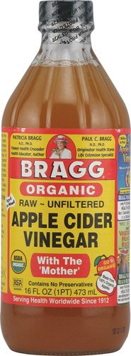 Mother Cider Bragg Vinegar Apple With (Bragg Organic Raw Unfiltered Apple Cider Vinegar With The 'Mother' Unflavored -- 16 fl oz - 2pc)