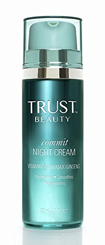 Night Cream Moisturizer by TRUST Beauty with Vitamin A & Panax Ginseng for Women and Men 1oz - All Natural Anti Aging Facial Face Firming Cream to Help Reduce Wrinkles And Add Radiance to Skin