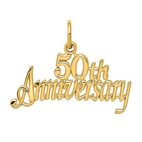 Gold 50th Anniversary Charm - 1