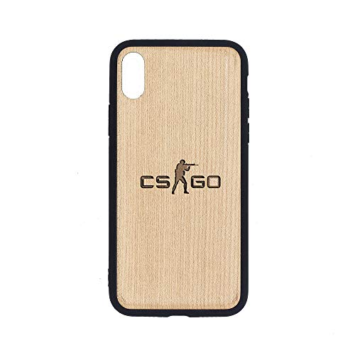 Logo Counter Strike Global Offensive 1 - iPhone Xs Case - Maple Premium Slim & Lightweight Traveler Wooden Protective Phone Case - Unique, Stylish & Eco-Friendly - Designed for iPhone Xs