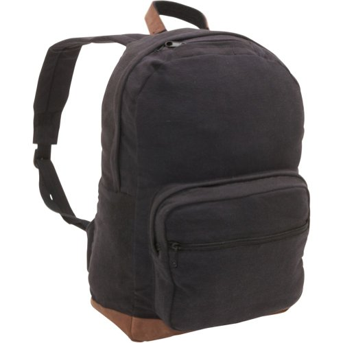 Vintage Teardrop Backpack Leather Compartment product image