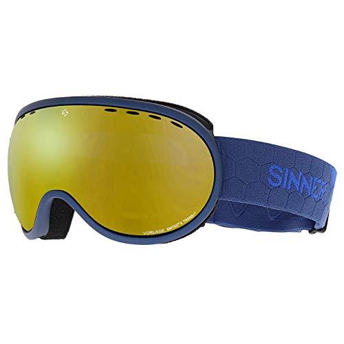 SINNER Vorlage Snow Goggles One Size Metallic Dark Blue ~ Double Full Blue Mirror (Sinner Goggles)