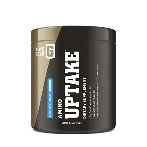 Complete Nutrition Elite Gold® Amino Uptake™ Dietary Supplement | 5g Free Form Amino Acids | Natural Energy Source | Promotes Mental Alertness (Blueberry Lemonade)