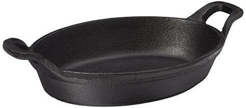 American Metalcraft CIPOV856 Cast Iron Oval Casseroles and Pots, 10.875' Length x 6.125' Width, Black