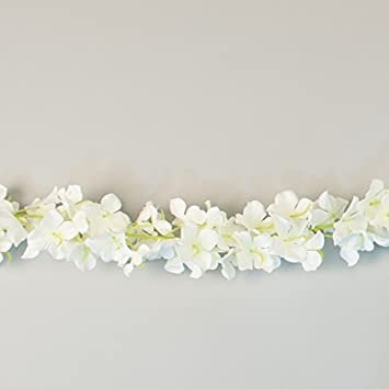 Amazon paperlanternstore silk white flower wedding garland paperlanternstore silk white flower wedding garland floral for crafting 80quot mightylinksfo