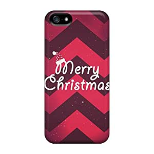 New Merry Christmas Hat And Red Pattern Tpu Case Cover, Anti-scratch MoiJT12312DxlgQ Phone Case For Iphone 5/5s