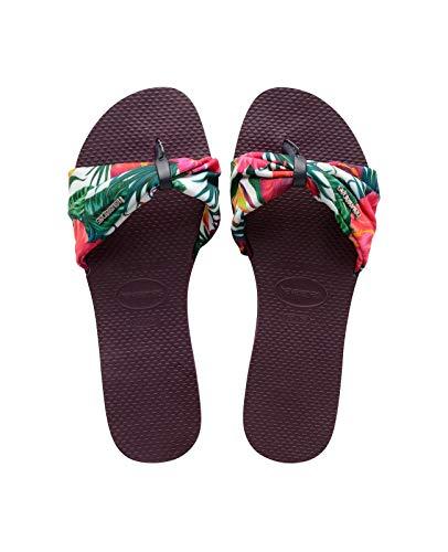 Havaianas Women's You Saint Tropez Flip-Flop Sandal (9-10 M US, Aubergine)