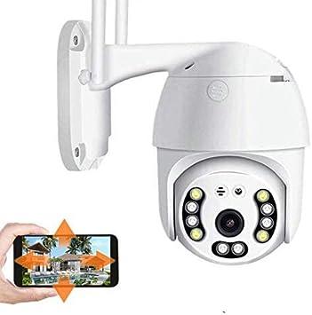 Opinión sobre Camara Vigilancia WiFi, Ptz Cámara IP Dome Exterior Cámara de Seguridad 1080P IP66 Impermeable, Visión Nocturna, Audio Bidireccional, Detección de Movimiento
