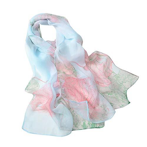 Scarves Lovor Sale Ladies Silk Feeling Scarf Floral Print Lightweight Wraps Sunscreen Shawls