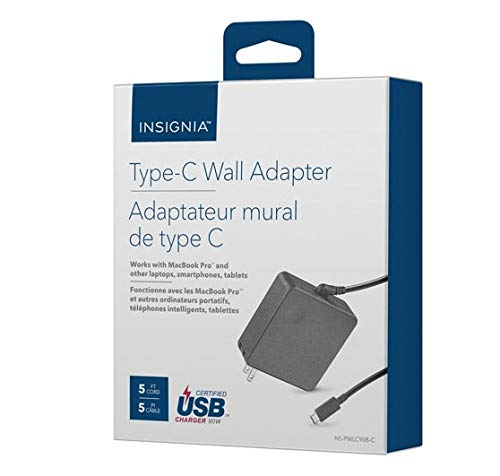 Insignia Type-C Wall Charger - Black - Model: NS-PWLC908 by Insignia