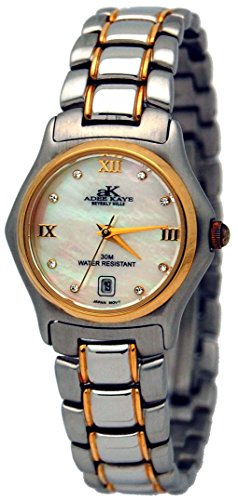 Adee Kaye #AK35-L Women's Gold Tone Dazzling Bling Collection Watch