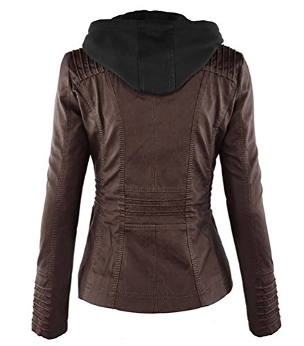 Giacca Pelle Giacca Giacchetto di Donna Pelle Pelle Giubbotto Biker Slim Moto in Caff Chiodo NiSeng Ywvt4