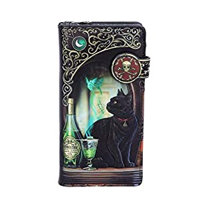 Lisa Parker Women Absinthe Black Cat Embossed Purse