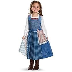 Disney Belle Village Dress Deluxe Movie Costume, Multicolor, Small (4-6X)