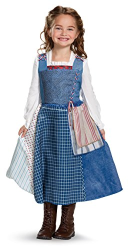Disney Belle Village Dress Deluxe Movie Costume, Multicolor, Small (4-6X) -