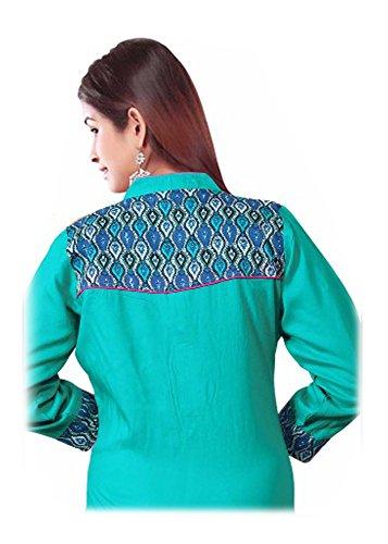 jayayamala Impressionnez tout le monde avec votre superbe look traditionnel en portant Kurti Top brodé Chemisier