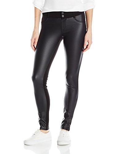 Jolt Womens Techno Tuck Coated Ponte Skinny Jean