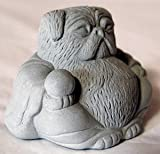 3 Zen Mini Lucky PUG Buddha Sculptures For Sale