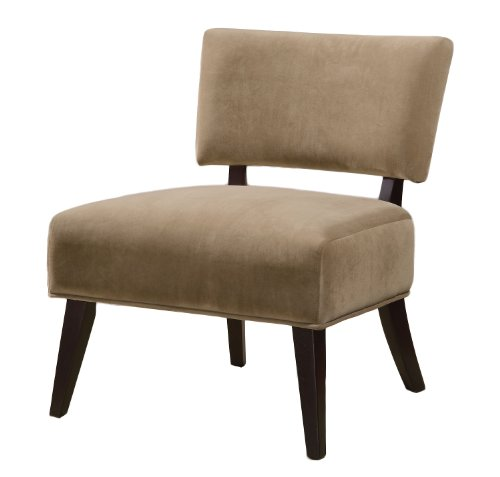 Price comparison product image Coaster Home Furnishings 460508 Velvet Contemporary Armless Accent Chair, Tan