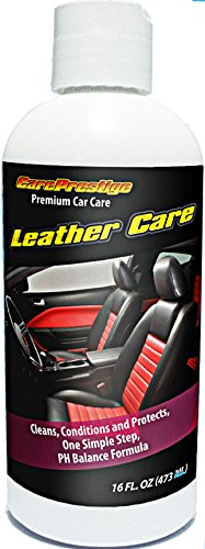 16oz Leather Conditioner & Cleaner by CarePresitige. The Best Leather Care Treatment For Your Car, Handbag, Leather Jacket, Sofa, Shoes, Boots and Other Leather Goods