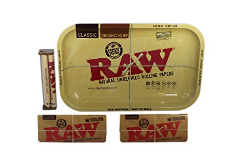 Raw Rolling Tray Small Bundle with Raw 110mm Roller and Raw King Size...