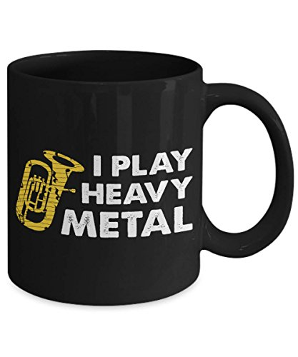 PAVULI - I Play Heavy Metal Funny Tuba Musical Instrument Coffee Mug MUG 15oz