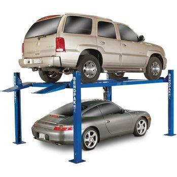 BendPak 4-Post Extra-Tall Car Lift - 9000-Lb. Capacity, Gray, Model# HD-9XW