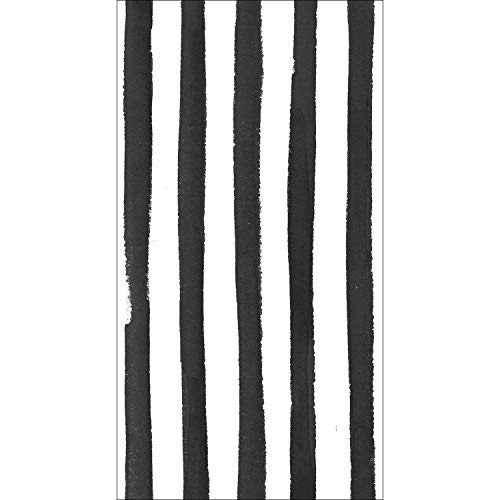 Black Licorice Dots and Stripes Guest Towels, 48 ct