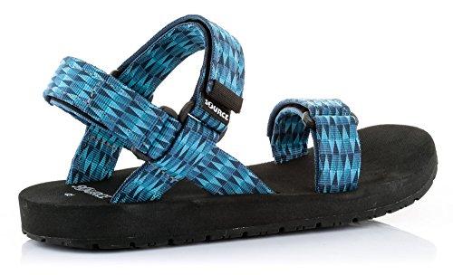 Source Herren Wander- und Trekking-Sandale Blau Classic Triangles Blue / 101011TB