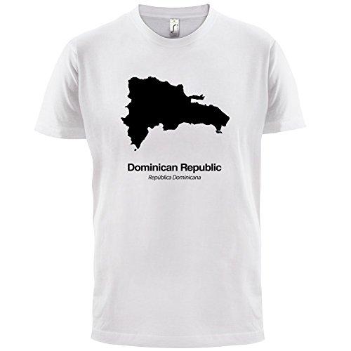 Dominican Republic / Dominikanischen Republik Silhouette - Herren T-Shirt - Weiß - XL
