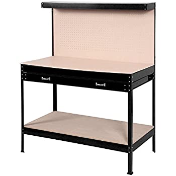 Home Workshop Bench Tools Table Wood Steel WorkBench Tool Storage