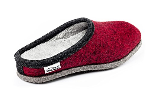 Breathable Anti Unisex Handmade Red with Quality South Cosy black Baita and Shoes in Warm Felt Slip House Tyrol Felt border Slippers Heel with Fine of Feeling Made Orthopant for Open Wellbeing pq1P8zB
